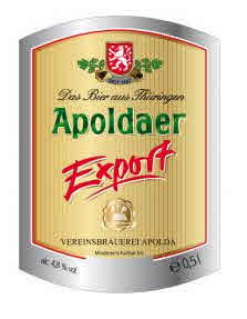 Logo Apoldaer Export - Deutschlands Bierliste Nr. 1