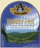 Logo Adam-bräu Waidler Hell
