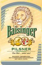 Logo Baisinger Pilsner