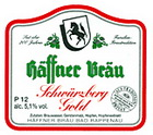 Logo Häffner Bräu Schwärzberg Gold