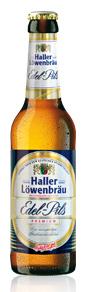 Logo Haller Löwenbräu Edel Pils