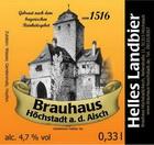 Logo Brauhaus Höchstadt Landbier