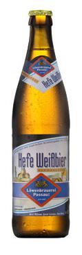 Logo Löwenbrauerei Passau Hefe Weißbier Alkoholfrei