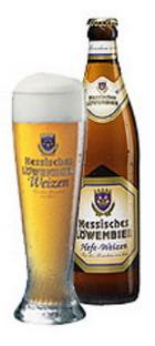 """Logo Hessisches Löwenbier """"hefe-weizen"""""""