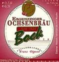 Logo Ergenzinger Ochsenbräu Bockbier