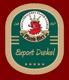 Logo Plank Bier Export Dunkel