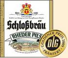 Logo Schlossbräu Rheder Pils