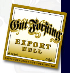 Logo Gut Forsting Export-Hell  - Deutschlands Bierliste Nr. 1