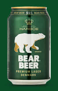 Logo Harboe Bear Beer - Deutschlands Bierliste Nr. 1